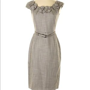 Antonio Melani dress • Sz 10 • Gray with belt